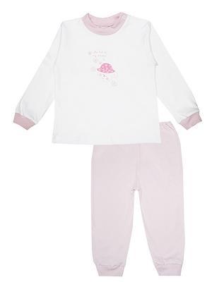 Пижама КОТМАРКОТ. Цвет: розовый, белый