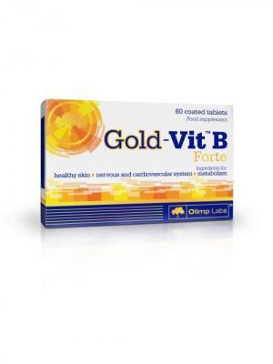 Витаминно-минеральный комплекс Gold-Vit B Forte ,60 таб Olimp Nutrition. Цвет: белый