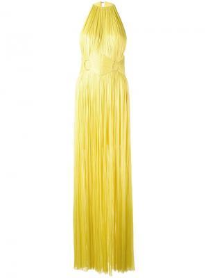 Платье с поясом Maria Lucia Hohan. Цвет: жёлтый и оранжевый