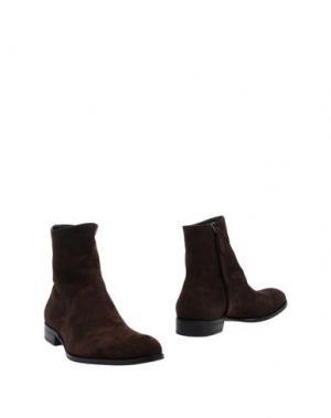 Полусапоги и высокие ботинки MR.HARE. Цвет: темно-коричневый