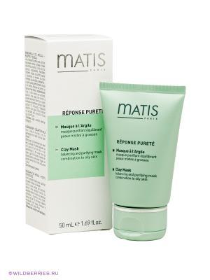 Линия для жирной кожи маска очищающая балансирующая, 50 мл Matis. Цвет: светло-зеленый