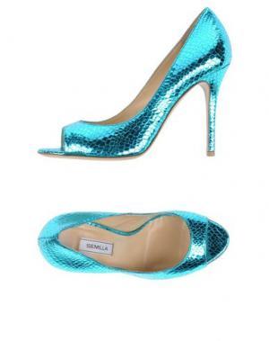Туфли SEMILLA. Цвет: бирюзовый