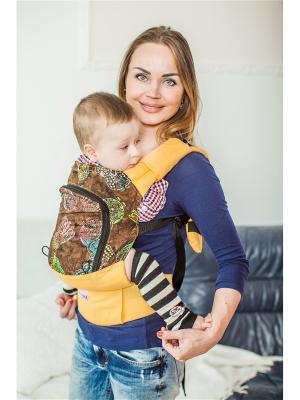 Эргономичный рюкзак  Совы Sling Me. Цвет: желтый