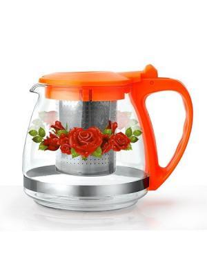 Чайники заварочные Bekker. Цвет: прозрачный, оранжевый