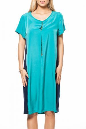 Платье GRAND POMMES. Цвет: голубой