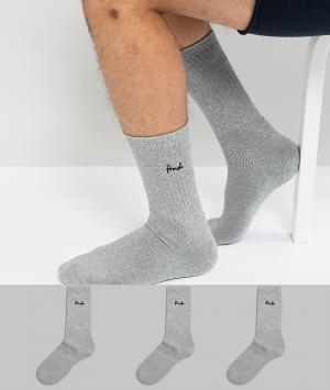 Pringle 3 пары носков. Цвет: серый