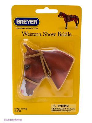 Регулируемая уздечка в стиле дикого запада для лошади Breyer. Цвет: красный, коричневый