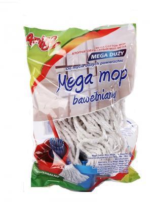 Швабра  Моп веревочный АМИГО MEGA . 2933,209 (без рукоятки) Politan. Цвет: голубой, белый, красный