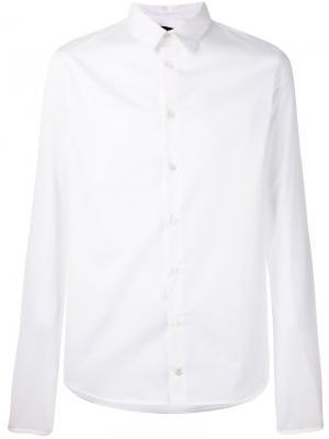 Рубашка с закругленным подолом Y / Project. Цвет: белый