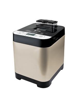 Хлебопечь VITEK 1999(ST), мощность 500 Вт, максимальный вес выпечки 750 г. Цвет: черный, золотистый