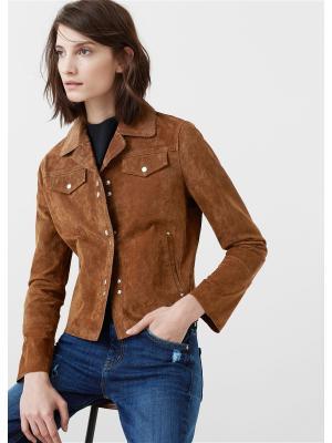 Куртка Mango. Цвет: коричневый