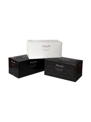 Блок из 3 упаковок салфеток бумажные Black&White с ароматом иланг-иланг, 224 шт./уп., FT678/1 Maneki. Цвет: белый