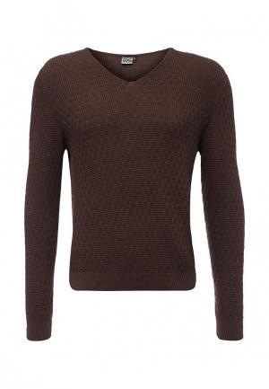 Пуловер RPS. Цвет: коричневый