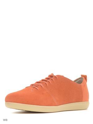Ботинки GEOX. Цвет: коралловый