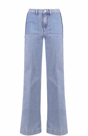 Расклешенные джинсы с лампасами Victoria by Beckham. Цвет: голубой