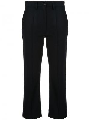 Широкие укороченные брюки Mm6 Maison Margiela. Цвет: синий