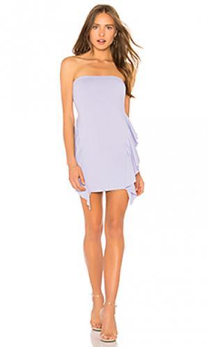 Jeanna ruffle strapless 16 dress Susana Monaco. Цвет: бледно-лиловый