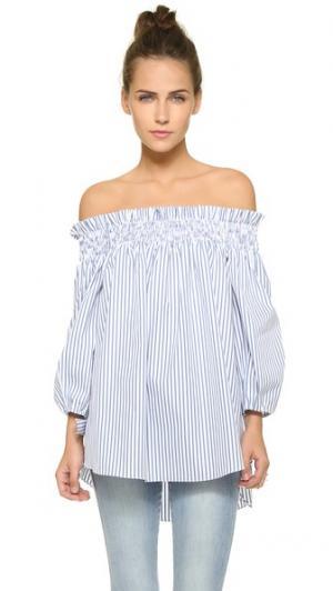 Блуза Lou с открытыми плечами Caroline Constas. Цвет: белый