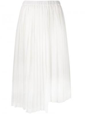 Плиссированная юбка Nº21. Цвет: белый