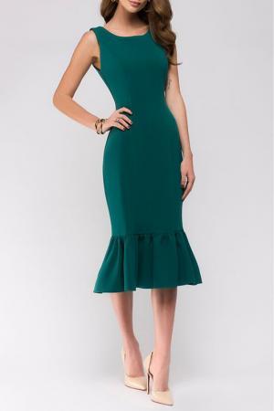 Приталенное платье без рукавов ANASTASIA KOVALL. Цвет: зеленый