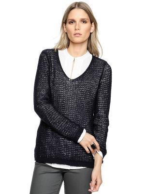 Пуловер S.OLIVER. Цвет: темно-синий