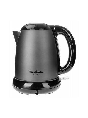 Чайник Moulinex BY540930 графит 1.7л. 2200Вт (металл). Цвет: черный