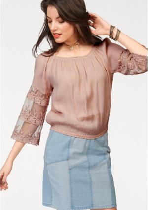 Блузка Aniston. Цвет: дымчато-розовый