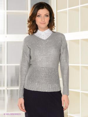 Пуловер QUIOSQUE. Цвет: серый, серебристый
