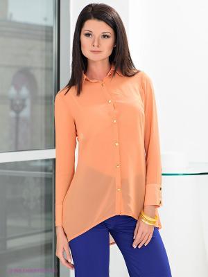 Блузка MONDIGO. Цвет: светло-оранжевый