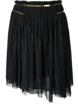 Плиссированная юбка Jay Ahr. Цвет: чёрный
