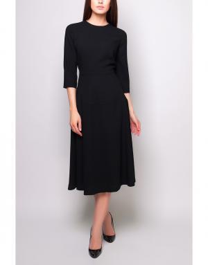 Шерстяное платье Poustovit. Цвет: черный