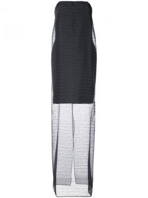 Двухслойное платье без бретелей Jeffrey Dodd. Цвет: чёрный