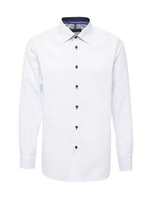 Рубашка GREG. Цвет: белый, голубой