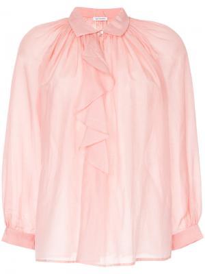 Блузка с воланами Vilshenko. Цвет: розовый и фиолетовый