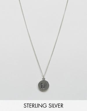 Fashionology Серебряное ожерелье с инициалом М. Цвет: серебряный