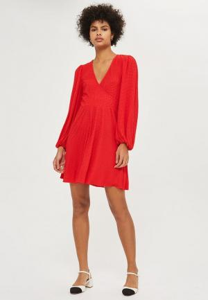 Платье Topshop. Цвет: красный
