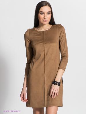 Платье DOCTOR E. Цвет: коричневый, черный
