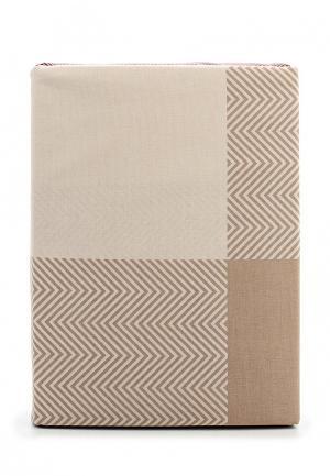 Комплект постельного белья 1,5-спальный Хлопковый Край. Цвет: бежевый
