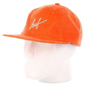 Бейсболка  Formless Script 6 Panel Orange Huf. Цвет: оранжевый