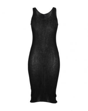 Платье до колена LAMBERTO LOSANI. Цвет: черный