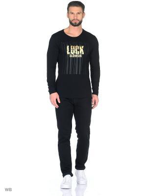 Лонгслив JB casual. Цвет: черный