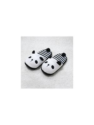 Тапочки Полосатая панда(40-41) Kawaii Factory. Цвет: черный, белый