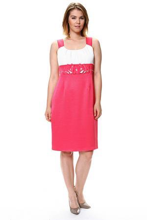 Платье GOLD. Цвет: розовый, белый