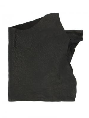 Шарф с драпировкой Cutuli Cult. Цвет: чёрный