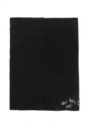 Снуд из шерсти с кристаллами Swarovski 155850 Anna Jollini. Цвет: черный