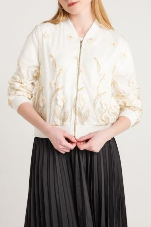 Куртка-бомбер BGN. Цвет: white, белый