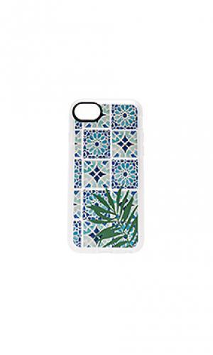 Чехол для iphone 7 tropical leave moroccan tiles Casetify. Цвет: синий
