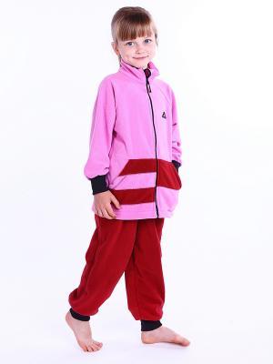 Комплект Полоска ЛисФлис. Цвет: бордовый
