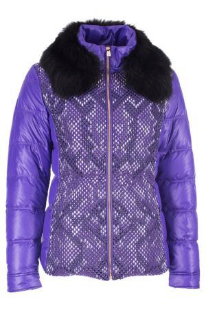 Пуховик Versace Collection. Цвет: фиолетовый