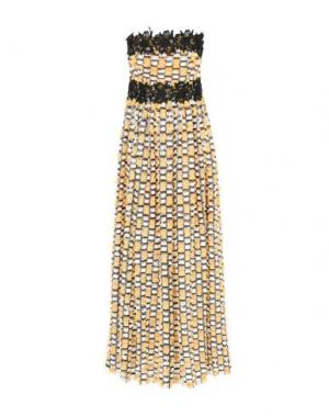 Длинное платье NORA BARTH. Цвет: желтый